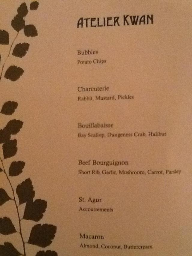 Top Chef Seattle menu