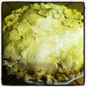 Pie crust #FAIL. Wasn't pretty but tasted great.