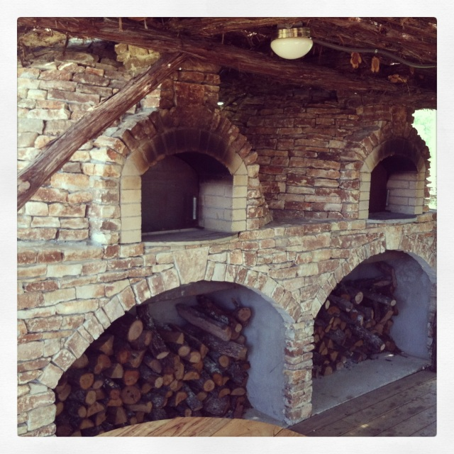 Pizza oven at Salt Lick Cellars in Driftwood, Texas