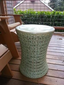 Our new ceramic stool