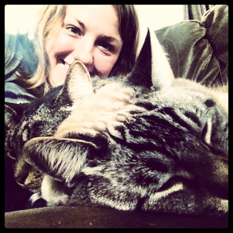 Sometimes I can get in on the snuggling too. I love cats-as-pillows!