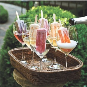 Popsicles + champagne = GENIUS