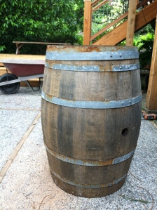 Wine barrel... Before