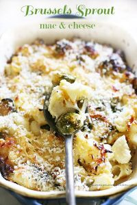 Brussels sprout mac 'n cheese. Thanks for the pin recommendation, Liz!