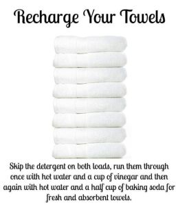 Towel recharge via Pinterest