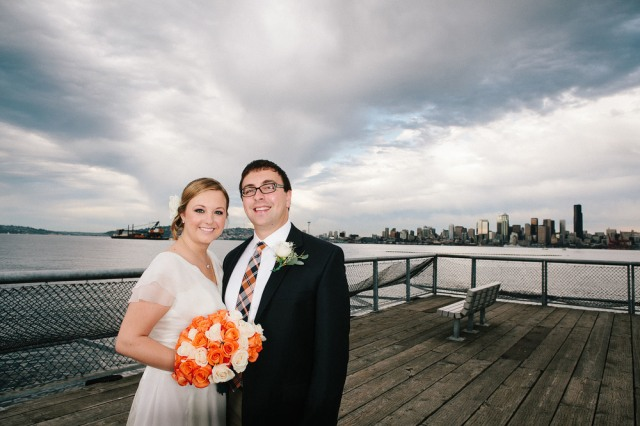 Seattle wedding photography on Alki