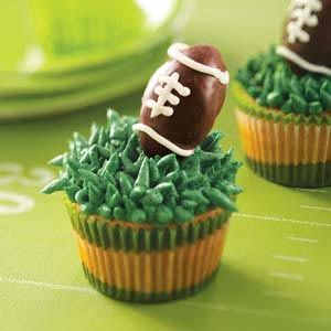 A party isn't complete without cupcakes! I like these and making grass frosting would be a first for me!