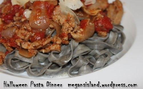 Spooky Halloween Pasta | Megan's Island Blog