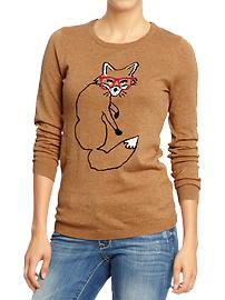 Old Navy has a lot of cute kid fox items, but this sweater is totally legit for a 31 year old woman.