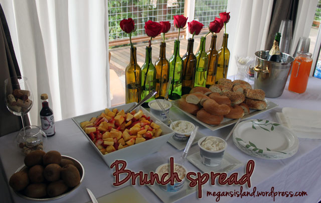 Pre-wine tasting brunch spread | Megan's Island Blog