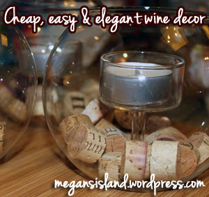 Cheap, easy #DIY wine candle holders | Megan's Island Blog