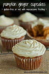 Pumpkin-ginger cupcakes