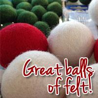 Felt Balls | Megan's Island Blog