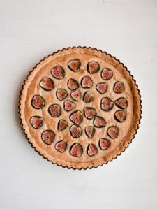 Gluten-free fig frangipane tart