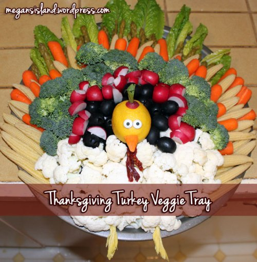 Thanksgiving vegetable tray | Megan's Island Blog