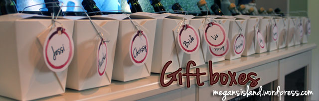 Wine tasting party favors | Megan's Island Blog