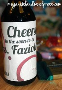 Customized bottles of wine | Megan's Island Blog