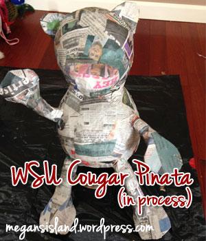 WSU Cougar Pinata | Megan's Island Blog