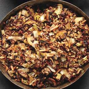 Wild rice and mushroom stuffing