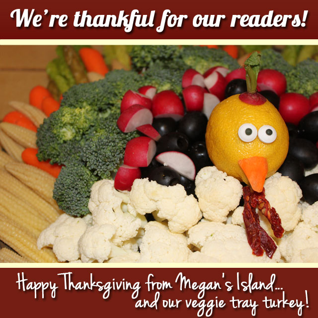 Turkey vegetable tray | Megan's Island Blog
