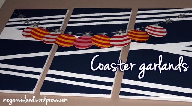 Christmas coaster garland | Megan's Island Blog