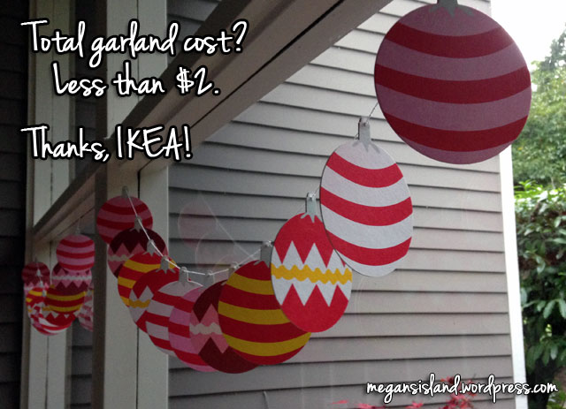 Christmas coaster garland #2 | Megan's Island Blog