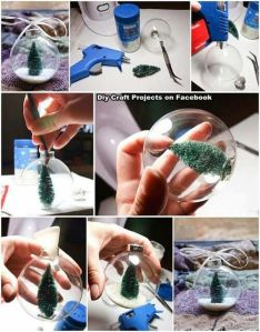 DIY tree and snow ornaments
