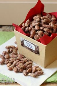 Roasted or spiced nuts? (These are roasted almonds)