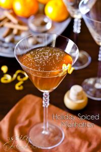 Holiday Spiced Manhattan