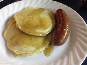 Pancakes with reindeer sausage