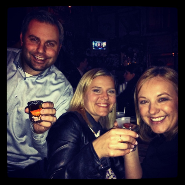Fireball time with Jessi and Brian