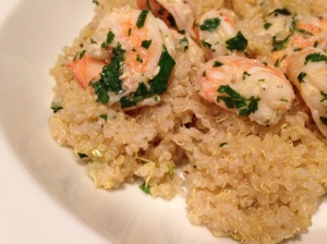 Cilantro shrimp and quinoa