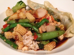 Sprouted tofu stir fry