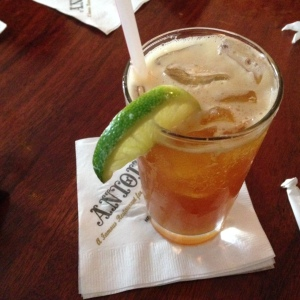Pimm's Cup. Delicious.