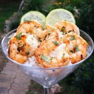 Citrus-y cilantro shrimp: yes, please
