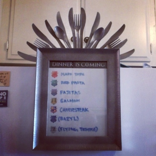 Perfect for a party, or a fridge: Game of Thrones inspired menu