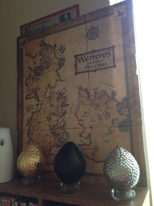 Game of Thrones map and eggs