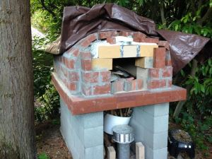 We're so close to finishing our pizza oven!
