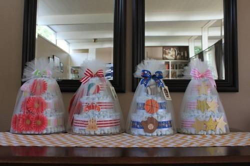 Little Britches Bakery Diaper Cakes... made by me!