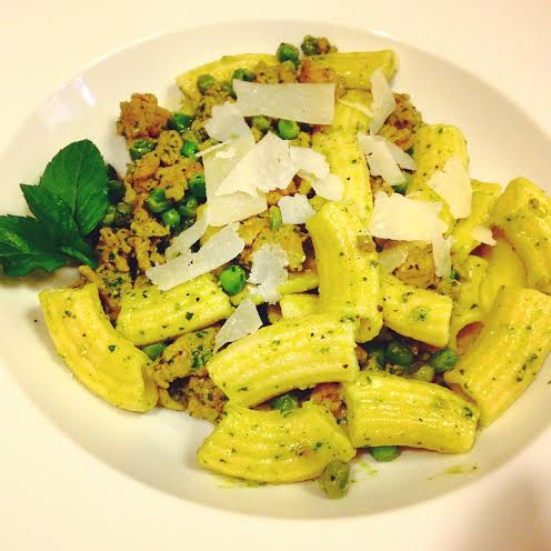 Delicious! Our basil-mint pesto final product