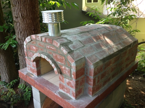 Our brand new, almost-done pizza oven!