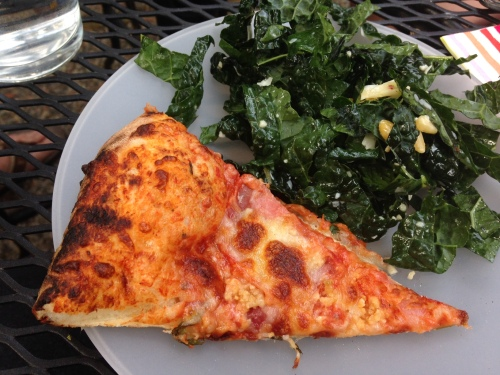 My favorite meal: Pizza and kale salad