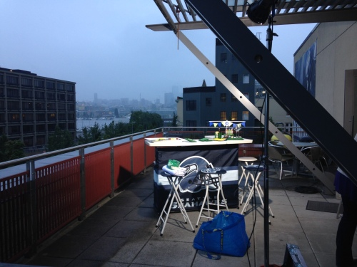 All set up on the weather deck