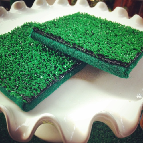 My AstroTurf coasters: Customize your felt to match your team colors