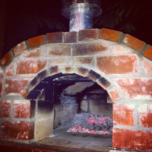 Our glorious backyard pizza oven