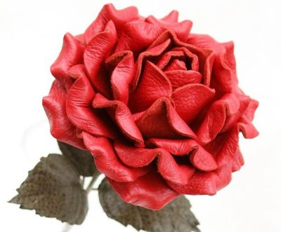A romantic leather rose, perhaps?