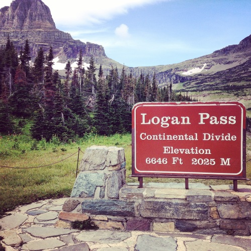The hike at Logan Pass