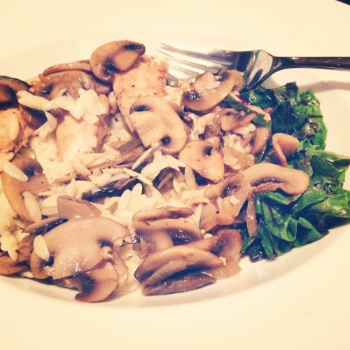 Third anniversary dinner: chicken marsala