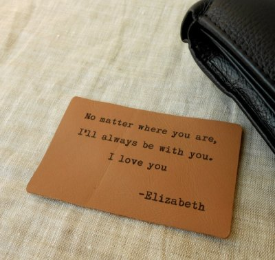 A wallet card is a fun idea... and so affordable!