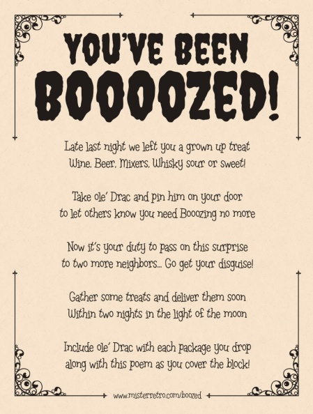 You've been boozed!